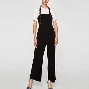 Zara JUMPSUIT WITH RIBBON AND BUCKLES-ref 5039/213